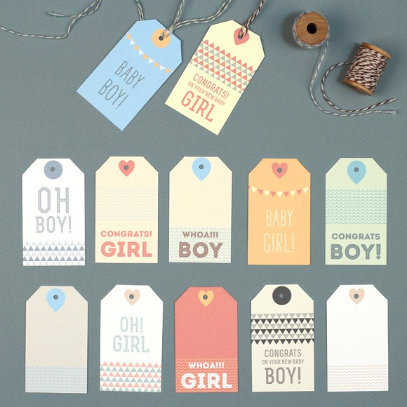 new baby gift tags