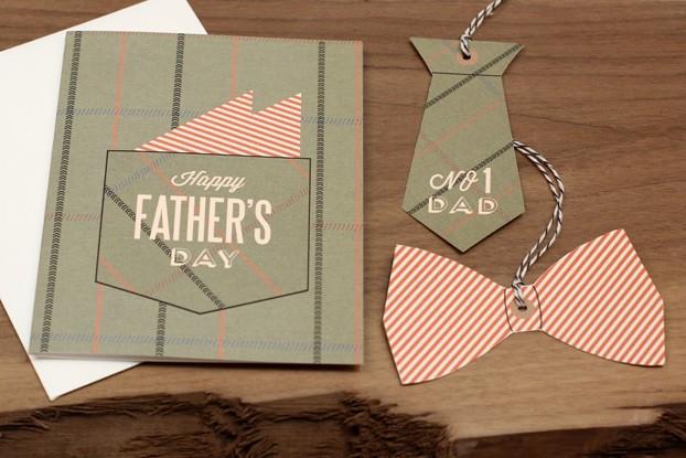 dads pocket square card