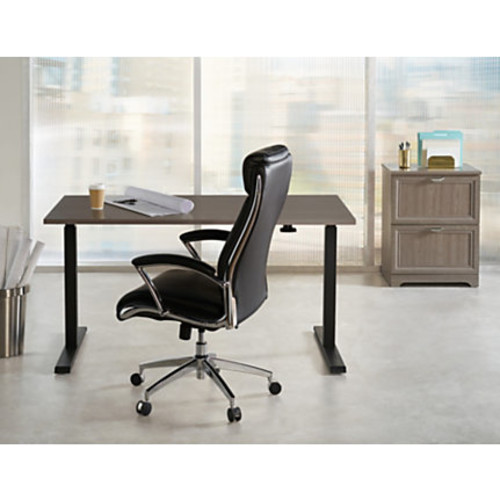 magellan fishing chair ivory white covers realspace pneumatic stand up height adjustable desk gray