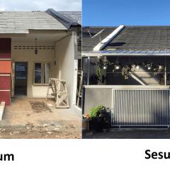 Renovasi Atap Baja Ringan Rumah Tipe 36 Menyulap Subsidi Jadi Lapang Dan Nyaman Ala Instagrammer