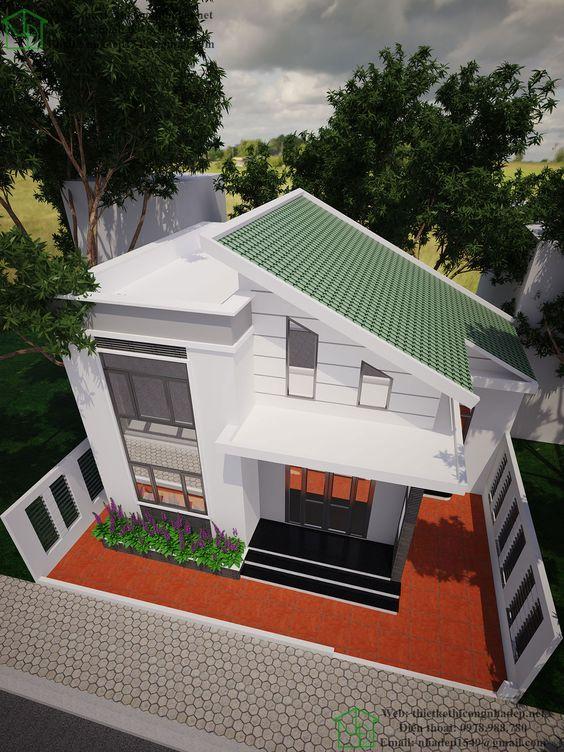 Desain Rumah Atap Miring : desain, rumah, miring, Contoh, Rumah, Miring, Minimalis, Rumah123.com