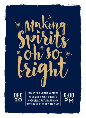 Holiday Party Invitations   Match Your Color & Style Free! - Basic ...