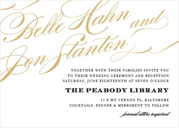 foil stamped wedding invitations