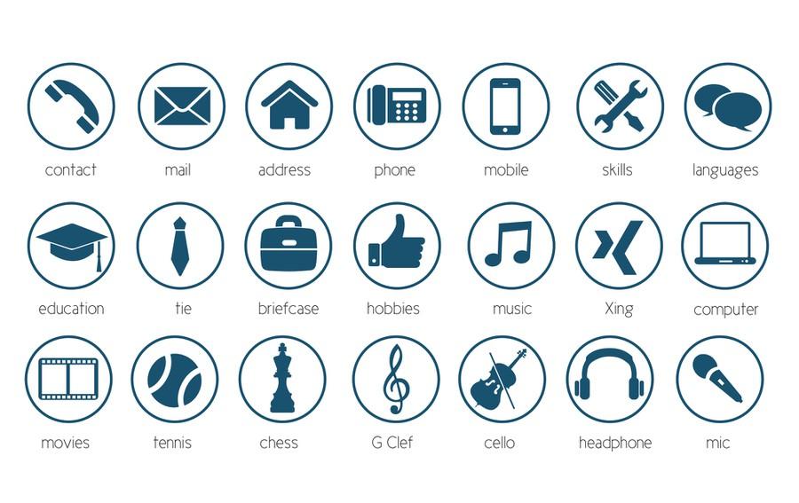 cv icone telephone word