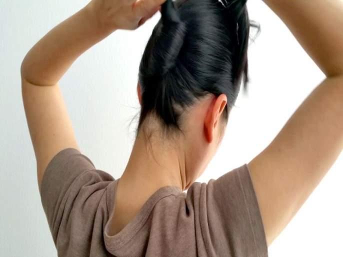 Image result for केस बांधणे