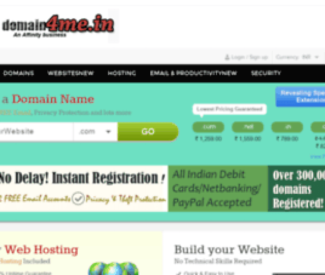 Indian Domain Names Web Hosting Company Offers Domain Name Registration Web Hosting Web Design And Website Builder Tools