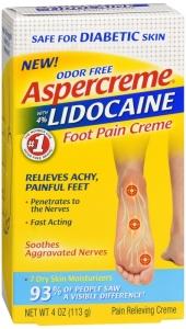 Aspercreme 4% Lidocaine Diabetic Foot Pain Creme 4 oz