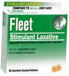 Fleet Bisacodyl 5mg Laxative Tablets 25 ct