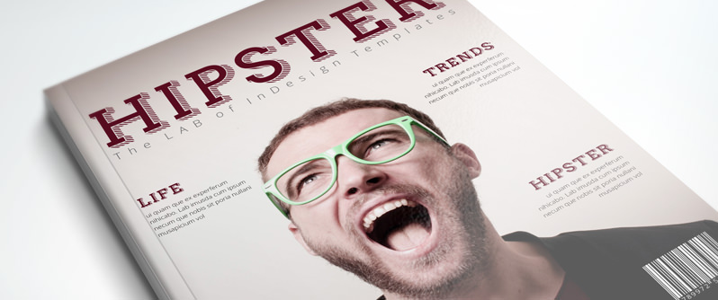 PRO InDesign Magazine Template: Hipster