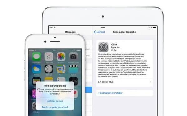 Mise à jour iOS