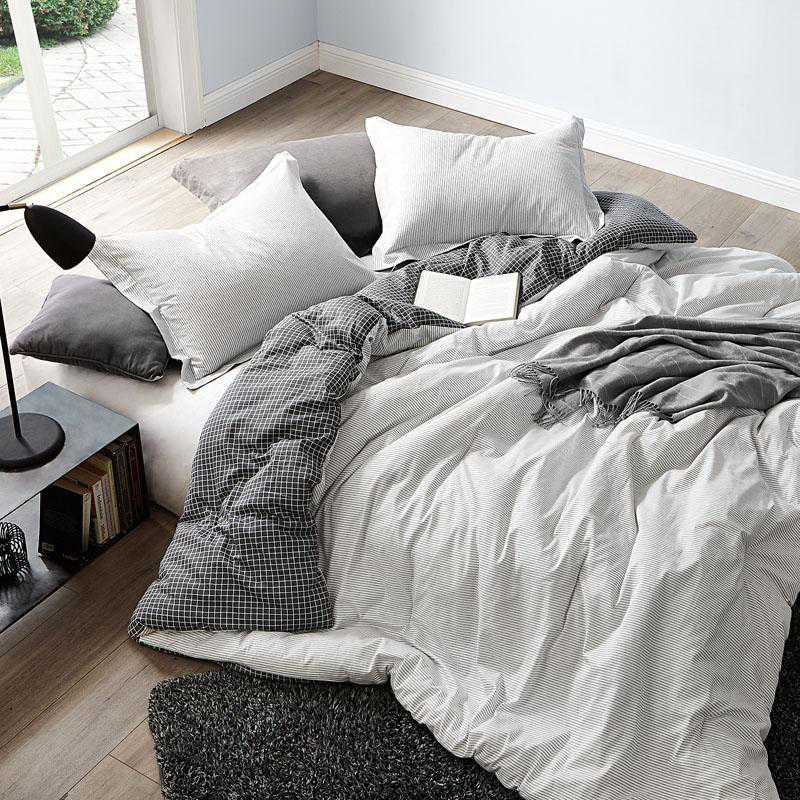 contrarian black and white twin xl dorm comforter 100 cotton bedding
