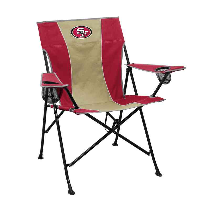 49ers camping chair outdoor aluminium table and chairs san francisco tailgate folding 627 10p pregame