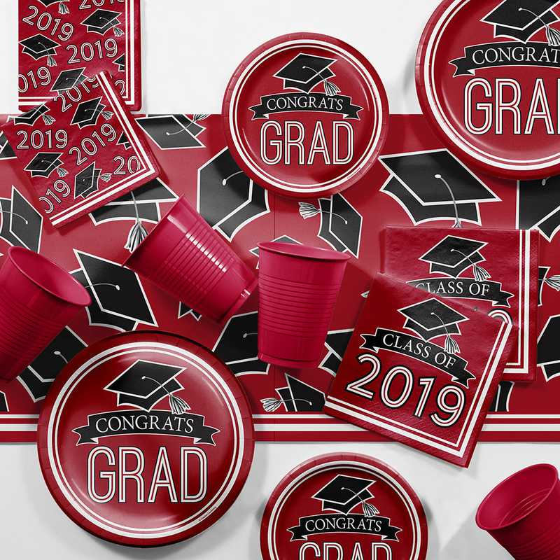 red 2019 graduation party