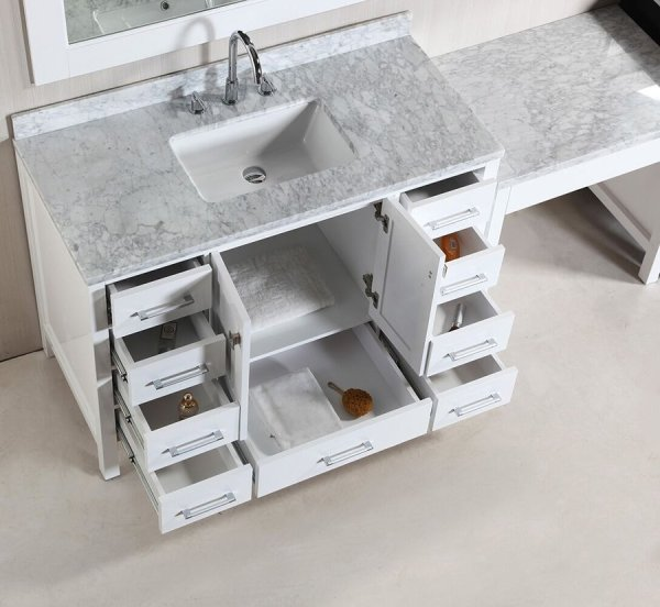 """Design Element Two 48"""" London Single Sink Vanity With Make"""