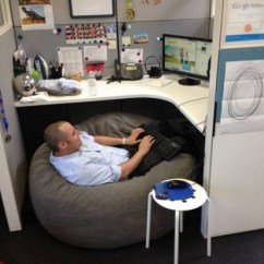 Bean Bag Gaming Chair Ergonomic Kneeling Chairs How To Make Your Office - Put A In Cubicle Wtf Funny Faxo