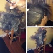 moldy hair - ladies change