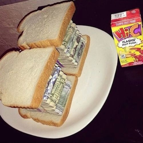 Ghetto Rich Cash Money Sandwich and HiC WTF
