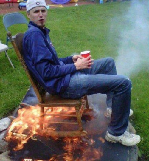 Redneck Seat Warmer On Bonfire Setting Funny Faxo