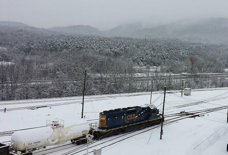 Cumberland Yard Snowy engine