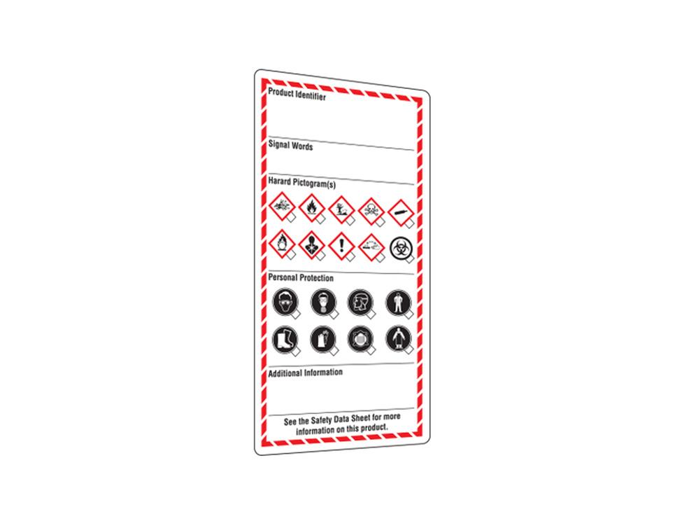 INCOM GHS1316 Workplace Label