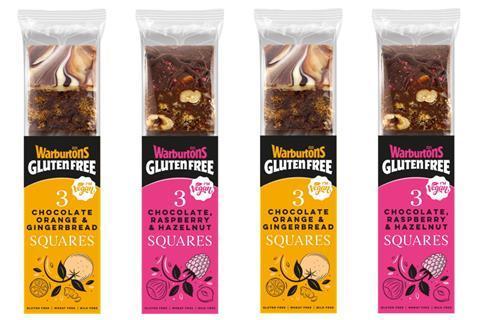 Warburtons gluten free cake squares