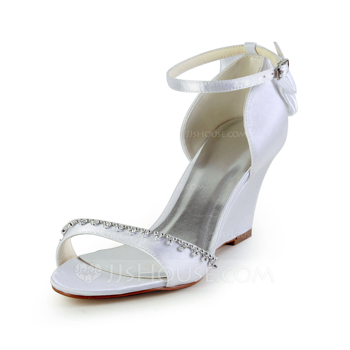 Ivory Wedge Sandals Wedding