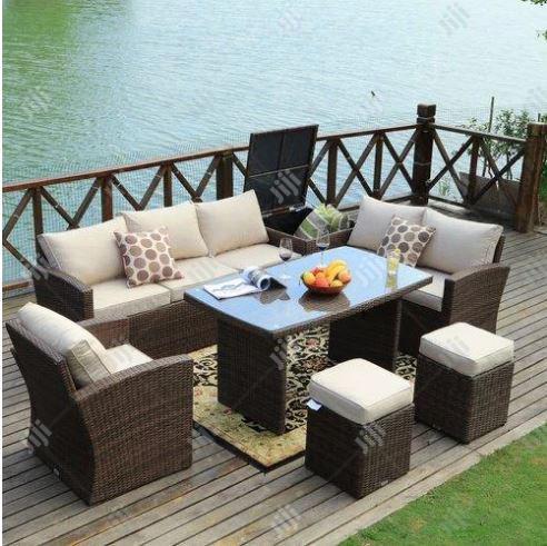 luxury outdoor rattan patio chair set