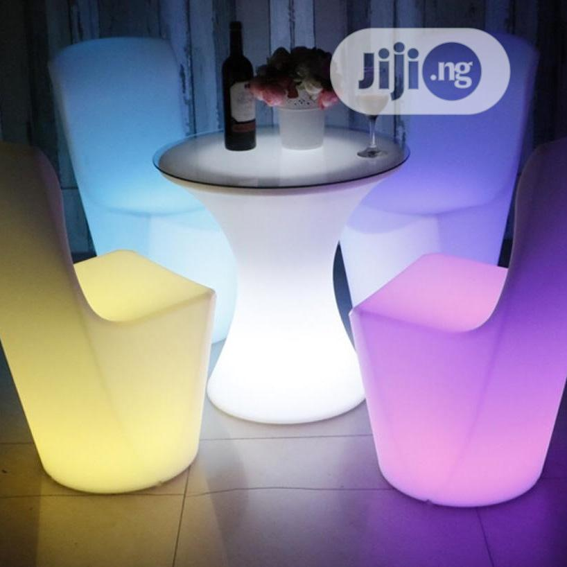 led cocktail chairs and table for sale in nigeria
