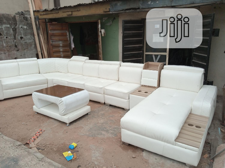 U Shaped Leather Sofa With Center Table In Ikeja Furniture Tochukwu Best Furniture Jiji Ng