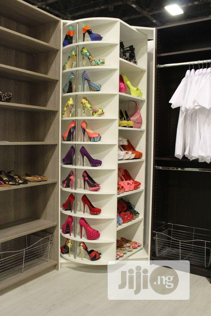 rotating shoe rack for 60 shoes or more