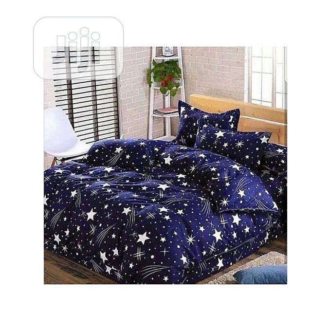 6x6 beautiful blue star duvet bedsheet with 4 pillow cases