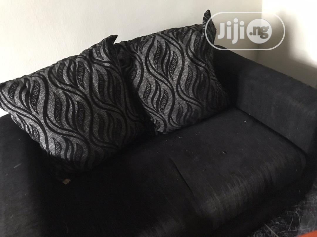 Archive Two Seater Sofa With Two Big Throw Pillow With Table In Ajah Furniture Adegoke Adeyemi Jiji Ng For Sale In Ajah Adegoke Adeyemi On Jiji Ng
