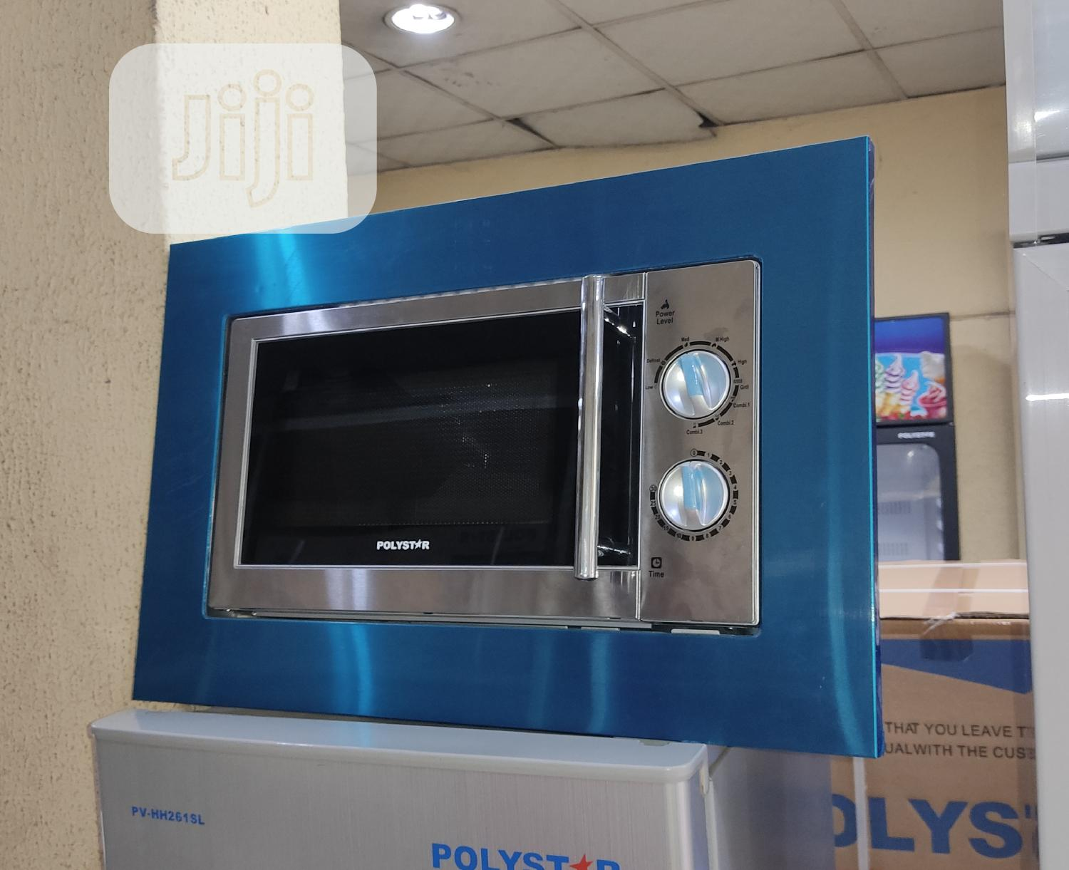 polystar microwave 20 litre built in cabinet with grill