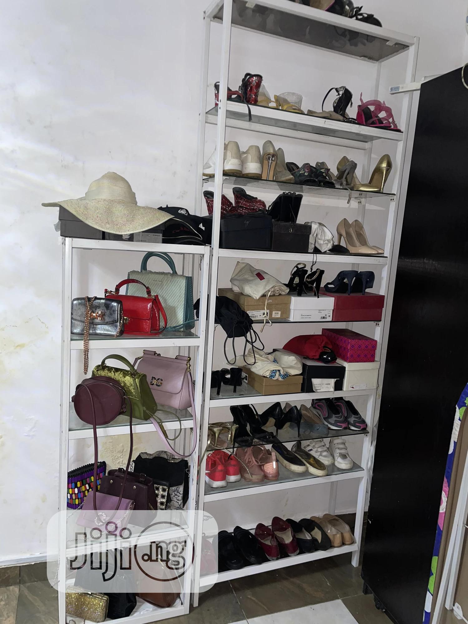 shoe and bag rack