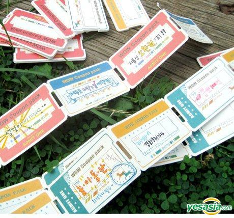 YESASIA: Just For Fun Coupon Pack Type A (Mint & Orange) ギフト - - ライフスタイル&ギフト - 無料配送