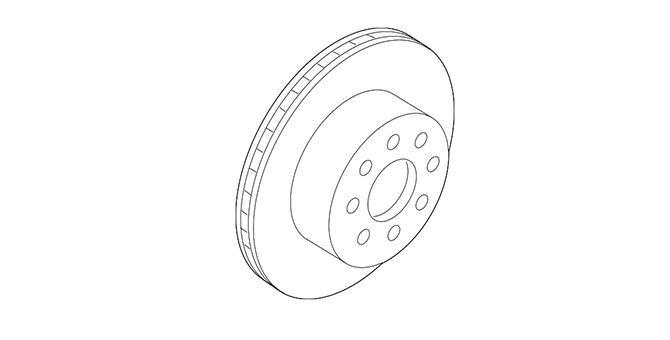 2017-2020 Acura MDX 5-DOOR Disk, Rear Brake 42510-TRX-A00