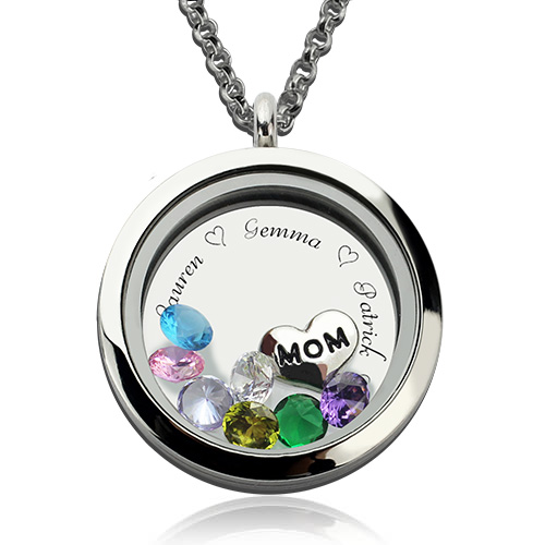 personalized locket necklace for