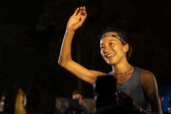 2019年度 HK100 女子組冠軍陸陽春。港百是她首戰一百公里賽事,但隨即奪冠!