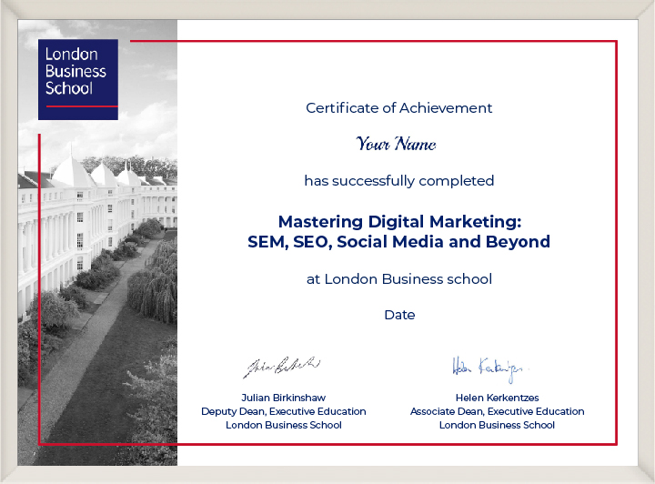 Read reviews & compare projects by leading digital marketing companies. London Business School Mastering Digital Marketing ...