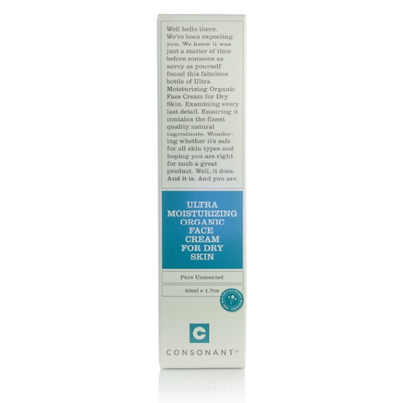 Consonant Ultra Moisturizing Organic Face Cream for Dry Skin