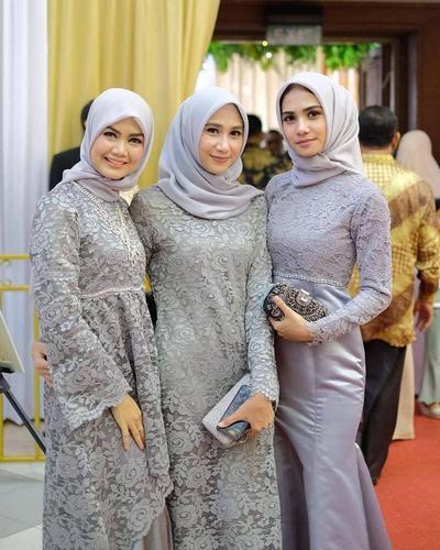 Model Baju Hijab Untuk Kondangan - Jilbab Voal