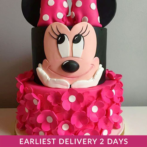Minnie Mouse Birthday Cake Buy Cakes In Dubai Uae Gifts