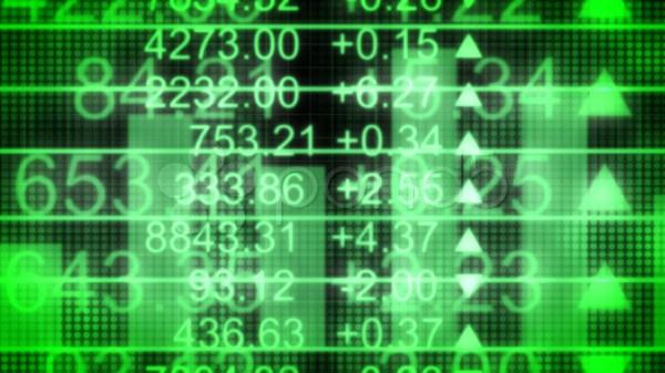 Green Stock Market Background Loop Video 447592