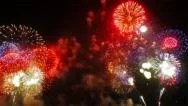 Stock Video Footage of Multiple fireworks explosion FullHD