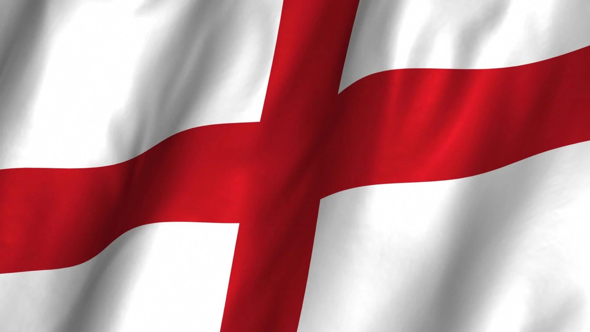 England Waving Flag Stock Video