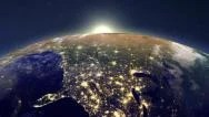 Stock Video Footage of Sunrise over the Earth
