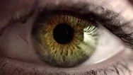 Stock Video Footage of Green eye opens - pupil dilates in 4k
