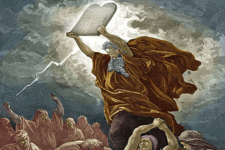 Image result for Moses and the Ten Commandments