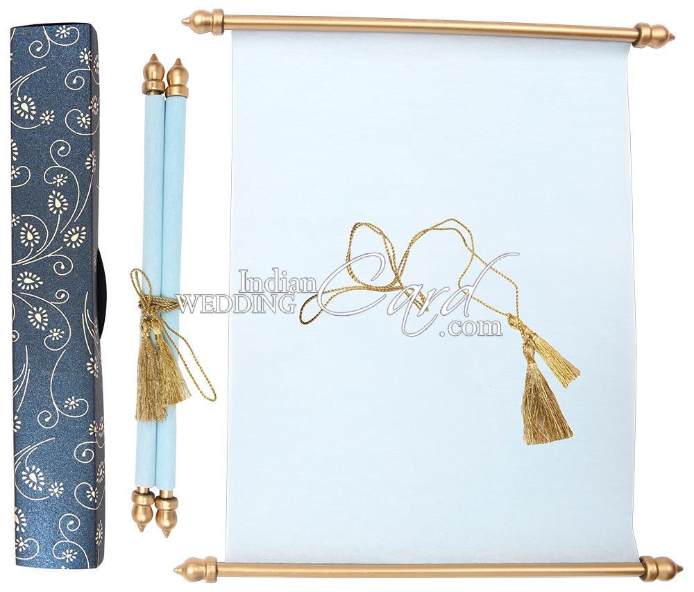 muslim wedding cards scrolls