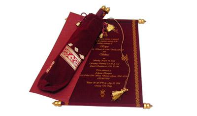 scroll invitations scroll wedding